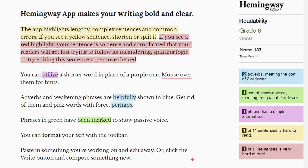 hemmingway writer